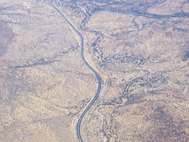 4个空中阿塔卡马沙漠横向系列 库存照片