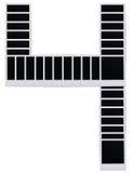4个空白摄制编号人造偏光板 库存照片