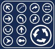 4个箭头按钮d集 库存例证