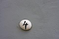 4个编号墙壁 免版税库存照片