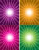 4个背景五颜六色的向量 免版税库存照片