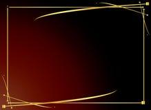 4个背景典雅的金子红色 免版税库存照片