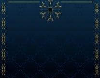 4个背景蓝色典雅的金子 库存照片