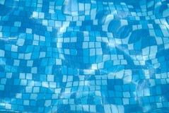 4个背景蓝色池 免版税库存图片