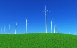 4个能源绿色 库存照片