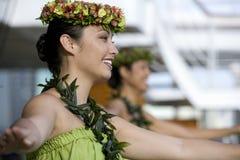 4个舞蹈演员hula 免版税图库摄影