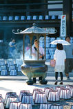 4个节日hattasan灯笼寺庙 库存照片