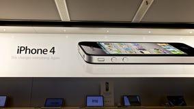 4个苹果iphone存储 免版税库存照片