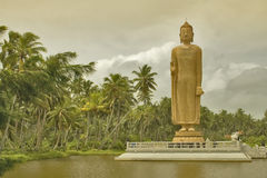 4个菩萨mahabodhi雕象 免版税库存图片