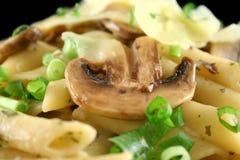 4个蘑菇意大利面食 免版税图库摄影