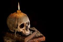 4个蜡烛头骨 库存照片