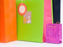 4个袋子购物 免版税库存图片