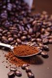 4个豆咖啡疯狂的系列 免版税库存图片