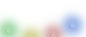 4个边界企业颜色copyspace图象 库存例证