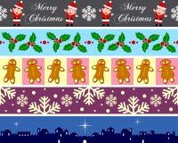 4个边界圣诞节集 皇族释放例证