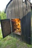 4个锅炉木头 免版税库存照片