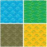 4个颜色无缝装饰品的模式 免版税库存图片