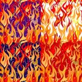 4个颜色火焰火花变形 皇族释放例证