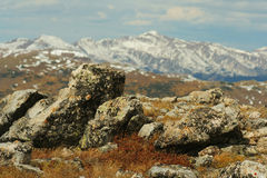 4个高山岩石 库存图片