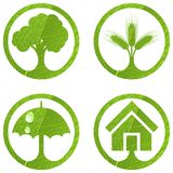 4个eco集合符号 免版税库存图片