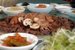 4串烤肉韩文 免版税库存照片