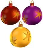 4件圣诞节装饰品卷 库存图片