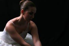 4位芭蕾舞女演员影子 库存照片