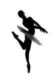 4位芭蕾舞女演员美丽的影子剪影 库存照片