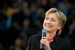 4克林顿・希拉里水平微笑 免版税图库摄影