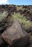 4刻在岩石上的文字 库存图片