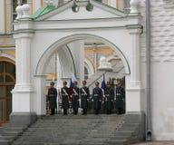 4卫兵克里姆林宫莫斯科 库存照片