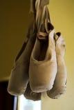 4双pointe鞋子 库存图片