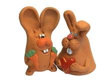 4只兔子 免版税库存照片