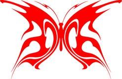 4只蝴蝶火焰状部族向量 库存照片