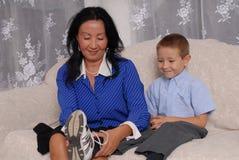 4只鞋子袜子时间 免版税图库摄影