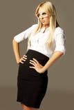 4可爱的白肤金发的企业女孩 免版税图库摄影