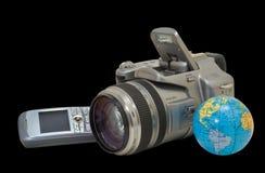 4台照相机电话 免版税库存照片