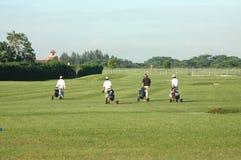 4名高尔夫球运动员 库存照片