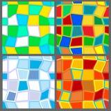 4四个模式无缝的季节 免版税图库摄影