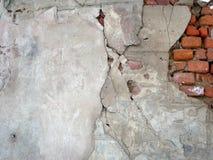 4块砖老墙壁 库存照片