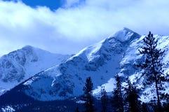 4多雪的山 库存图片