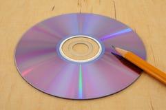 4对文字的光盘 库存图片