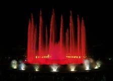 4巴塞罗那montjuic喷泉的魔术 库存图片