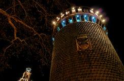 4座城堡中世纪晚上 免版税库存图片