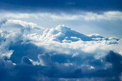 4座山天空 库存图片