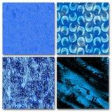 4抽象蓝色构成 免版税库存图片