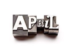 4月 免版税图库摄影