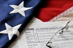 4月15日截止日期税时间 免版税图库摄影