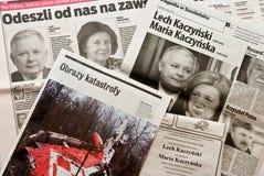 4月2010日灾害斯摩棱斯克 免版税库存图片