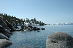 4月Tahoe湖 库存照片